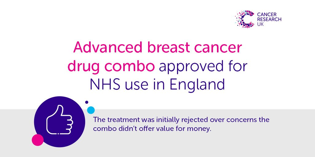 Good news: An advanced breast cancer drug combo has been added to England's NHS Cancer Drugs Fund 👇 http://po.st/wCTE2w