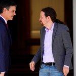 Image for the Tweet beginning: Sánchez e Iglesias negocian ya