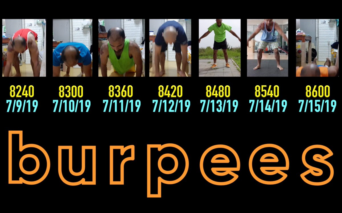 https://youtu.be/N7g9o9hVybc     burpees 4 life! year long challenge continues!  @crossfit #crossfit #workout #exercise #fitness #gains #father #parent #health #HealthyLife #HealthyLiving #Hardwork #크로스핏 #Fitlife #strength #training #Grind #PowerUp #spartan #challenge #fun #gymlife