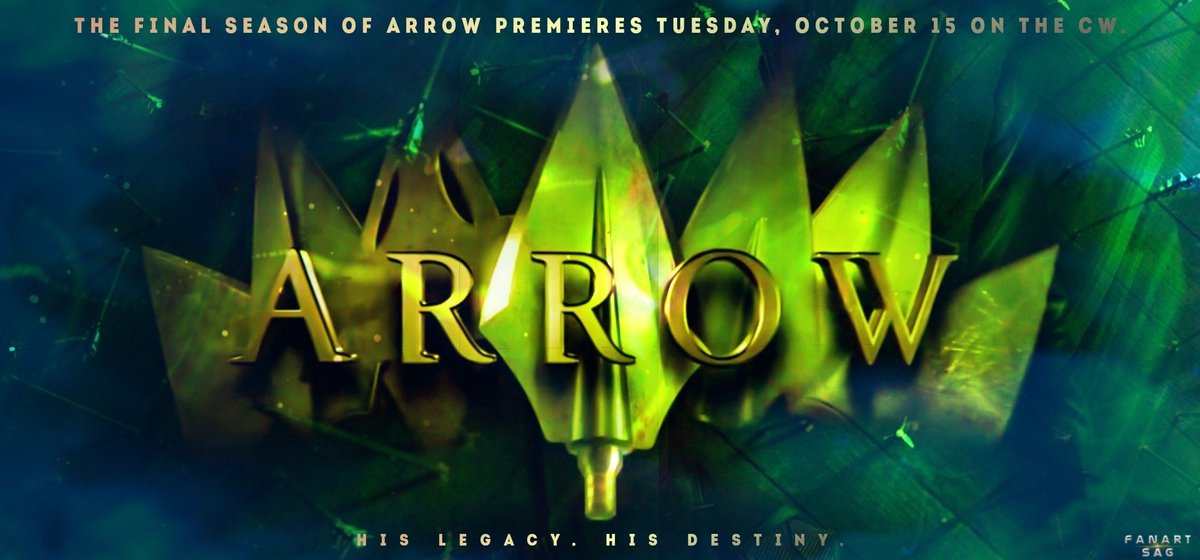 The final season of #Arrow premieres Tuesday, October 15 on The CW.  I'm not ready to say goodbye   @StephenAmell @SchwartzApprovd<br>http://pic.twitter.com/4gERnsYRkX