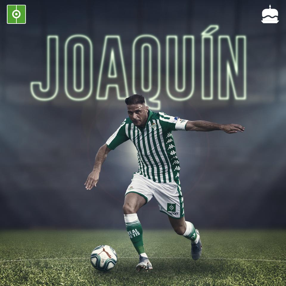 No puede ser un domingo cualquiera si @joaquinarte cumple 38 años... 💚💚 ¡FELICIDADES, LEYENDA! 👏👏👏#BeSoccer #RealBetis #Joaquin