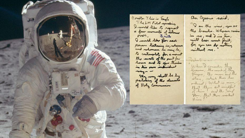 I am the vine, you are the branches. Whoever remains in me, and I in him, will bear much fruit; for you can do nothing without me. -- John 15:5 as read by #BuzzAldrin  #FirstCommunion #MoonLanding