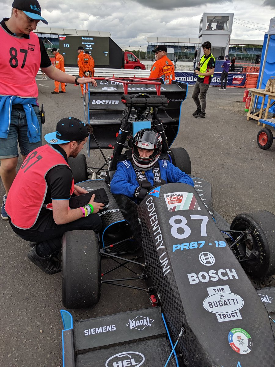 Some relieved drivers - well done @SHU_Racing_Team and @CUPhoenixRacing for finishing #FS2019 Endurance