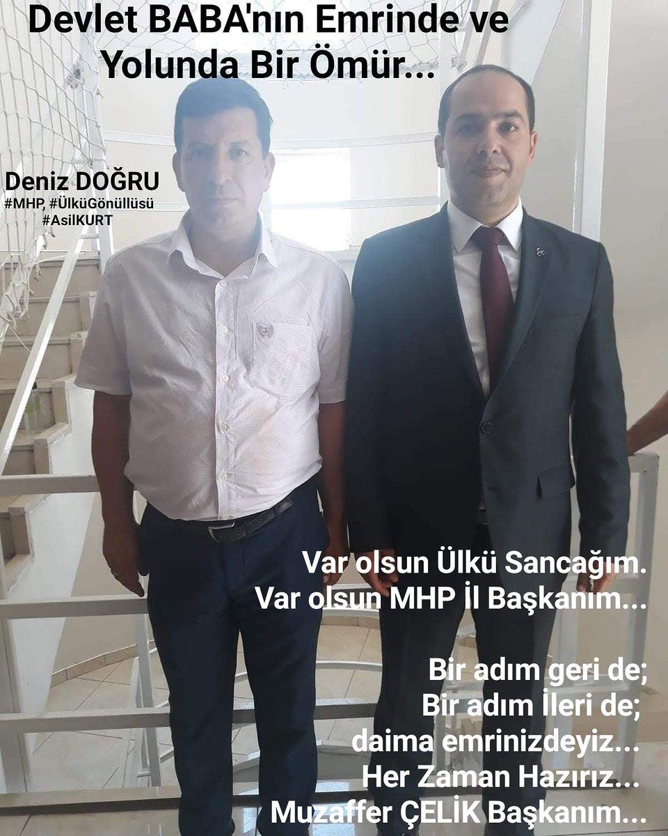Var olsun Ülkü Sancağım. Var olsun MHP İl Başkanım...  Bir adım geri de; Bir adım İleri de;  daima emrinizdeyiz...  Her Zaman Hazırız... @muzafferecelik Başkanım...
