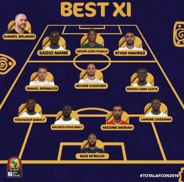OFFICIEL ! Le XI type de cette #CAN2019 !  📸 @CAF_Online