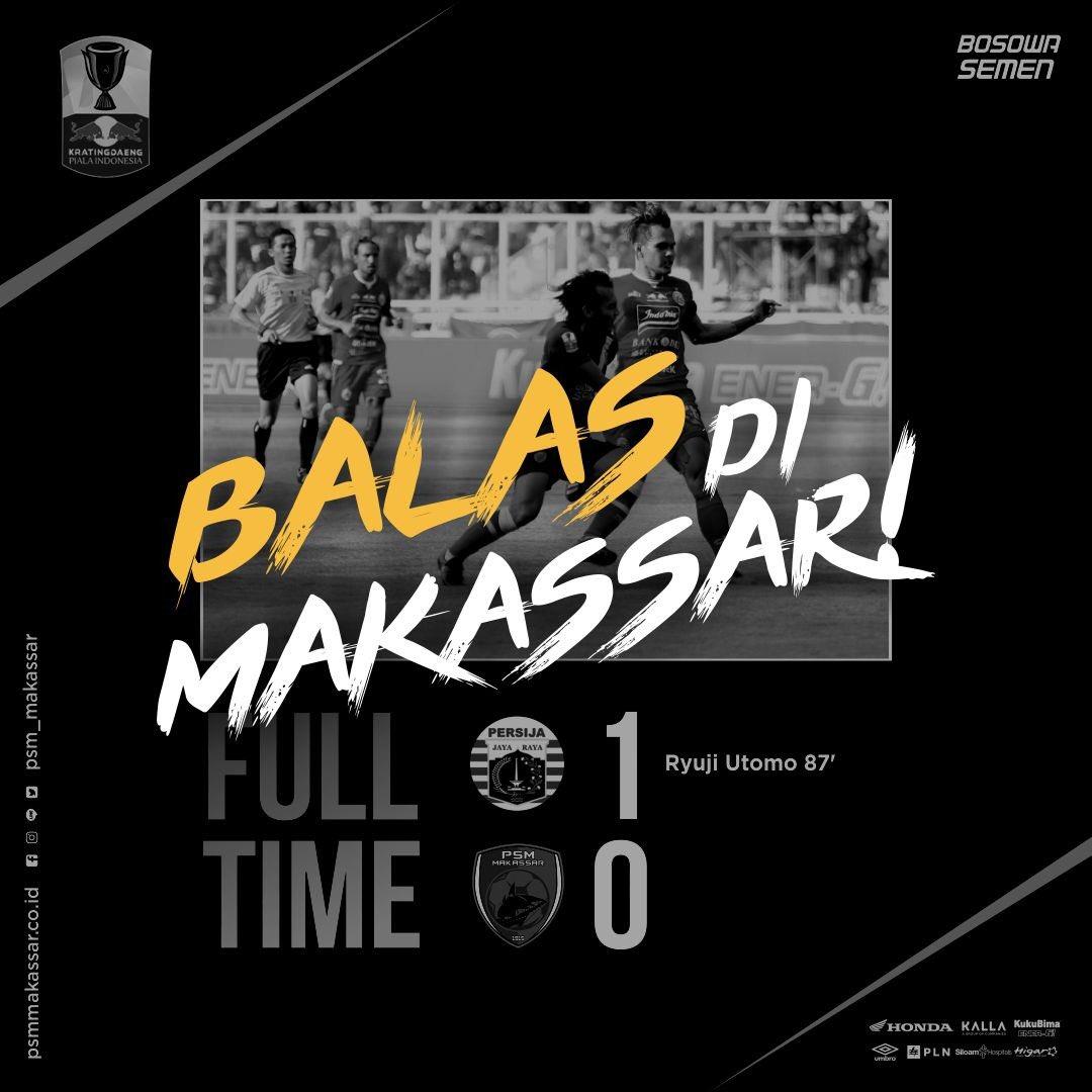 Misi PSM Makassar di final Piala Indonesia leg kedua, 28 Juli 2019