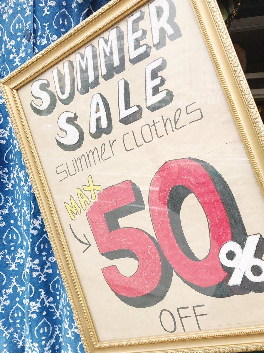 🌺SUMMER SALE max50%OFF🌺  ブラウスやワンピース・スカート・パンツなどなど夏物アイテムが ほとんど半額‼️ もちろん新入荷商品も対象🎶 今着たいアイテムが超お買い得になってます🎉 毎日商品入荷してますのでチェックしに来てくださいね✨  #札幌 #古着 #セール #札幌セール #半額 #SALE #夏物SALE