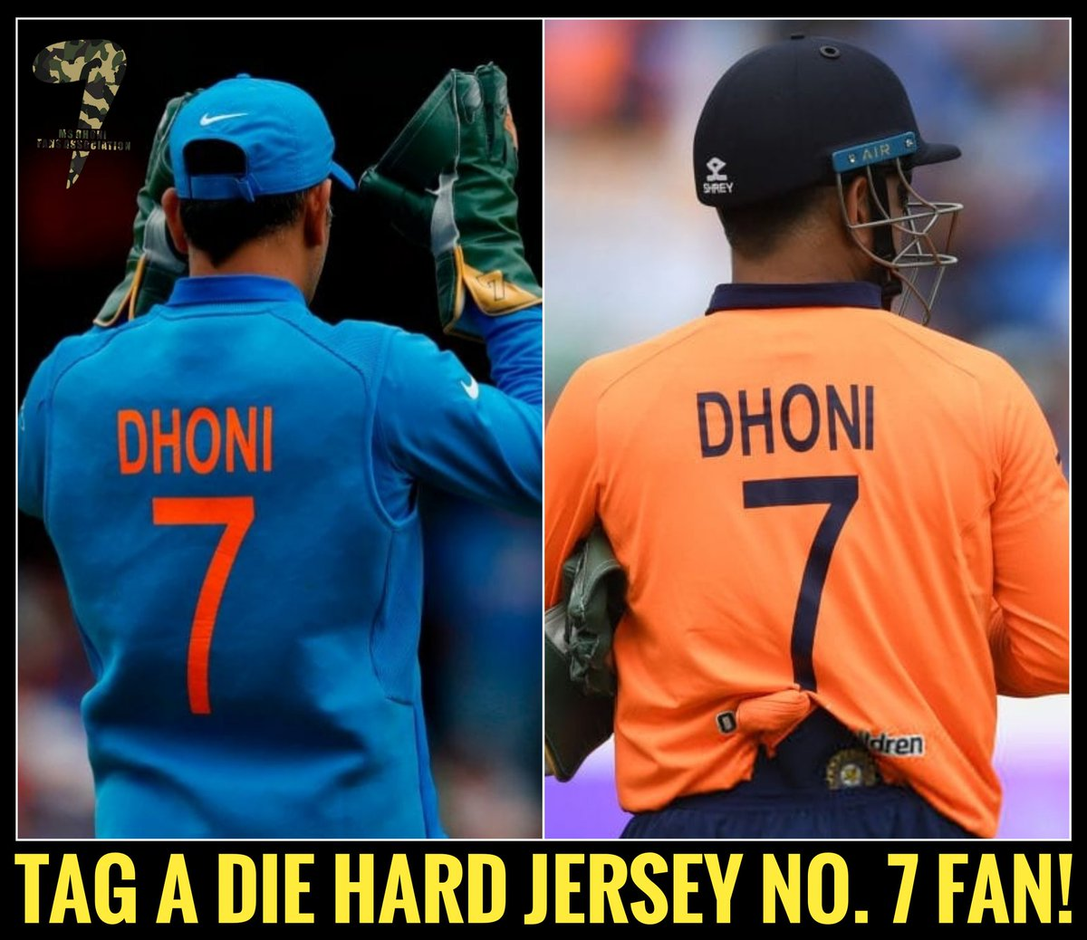 Tag that die hard @msdhoni fan in your list!  #Dhoni #DhoniAtCWC19 #TeamIndia <br>http://pic.twitter.com/ZvkeYDJlVw