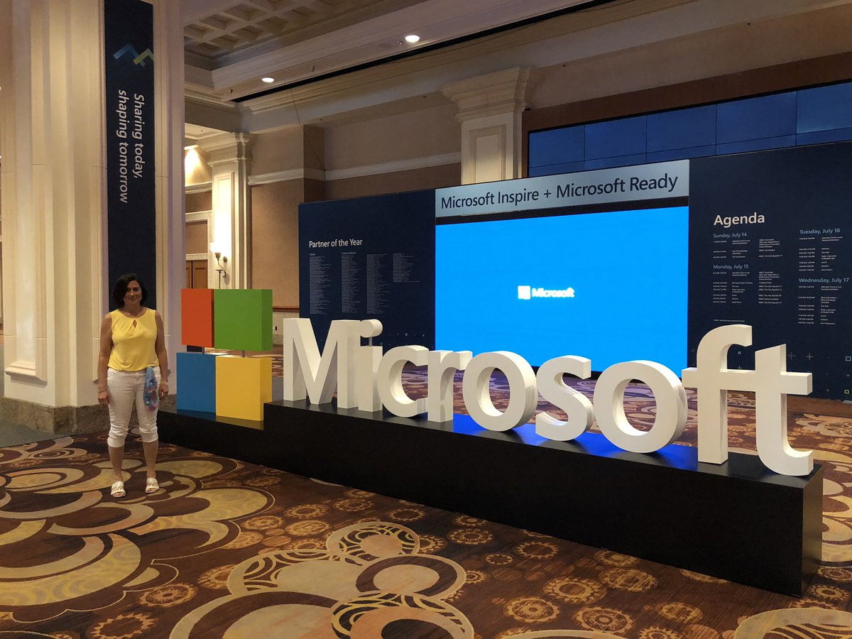 Excitement is building for #MSInspire Toured The Hub today. Incredible spaces for networking and learning. Make sure to check out the #MicrosoftForStartups section! #PartnersMakeMorePossible