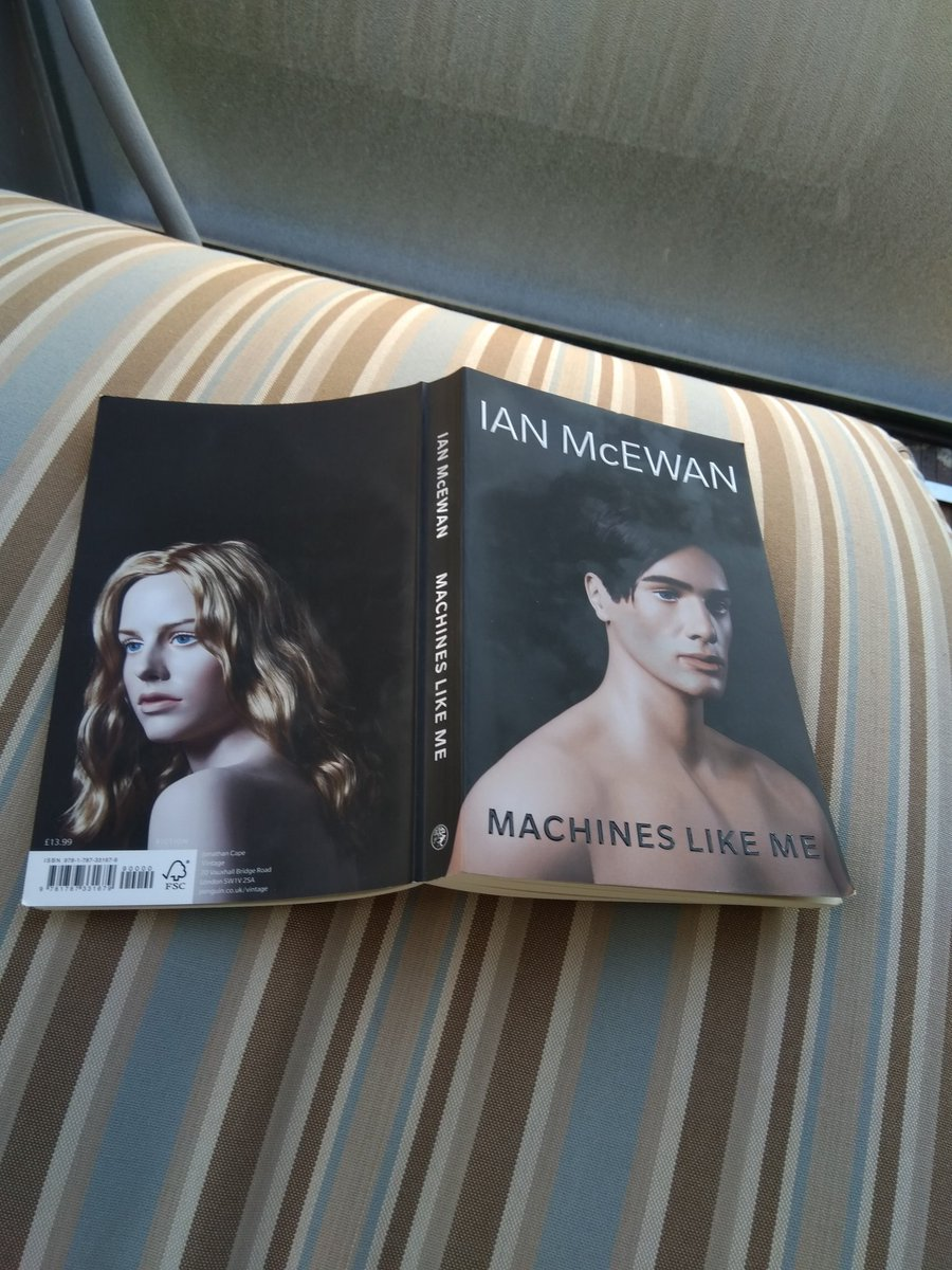 Finished @IanMcEwan #machineslikeme , bravo , what a master of storytelling! A long time to wait after #nutshell but well worth it !<br>http://pic.twitter.com/wkJwkqclBK