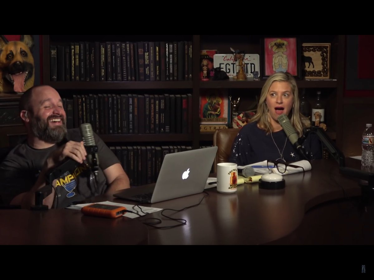 This is the perfect screenshot to sum up my absolute favorite podcast out today. The joy that these two bring me by torturing each other is to no end.