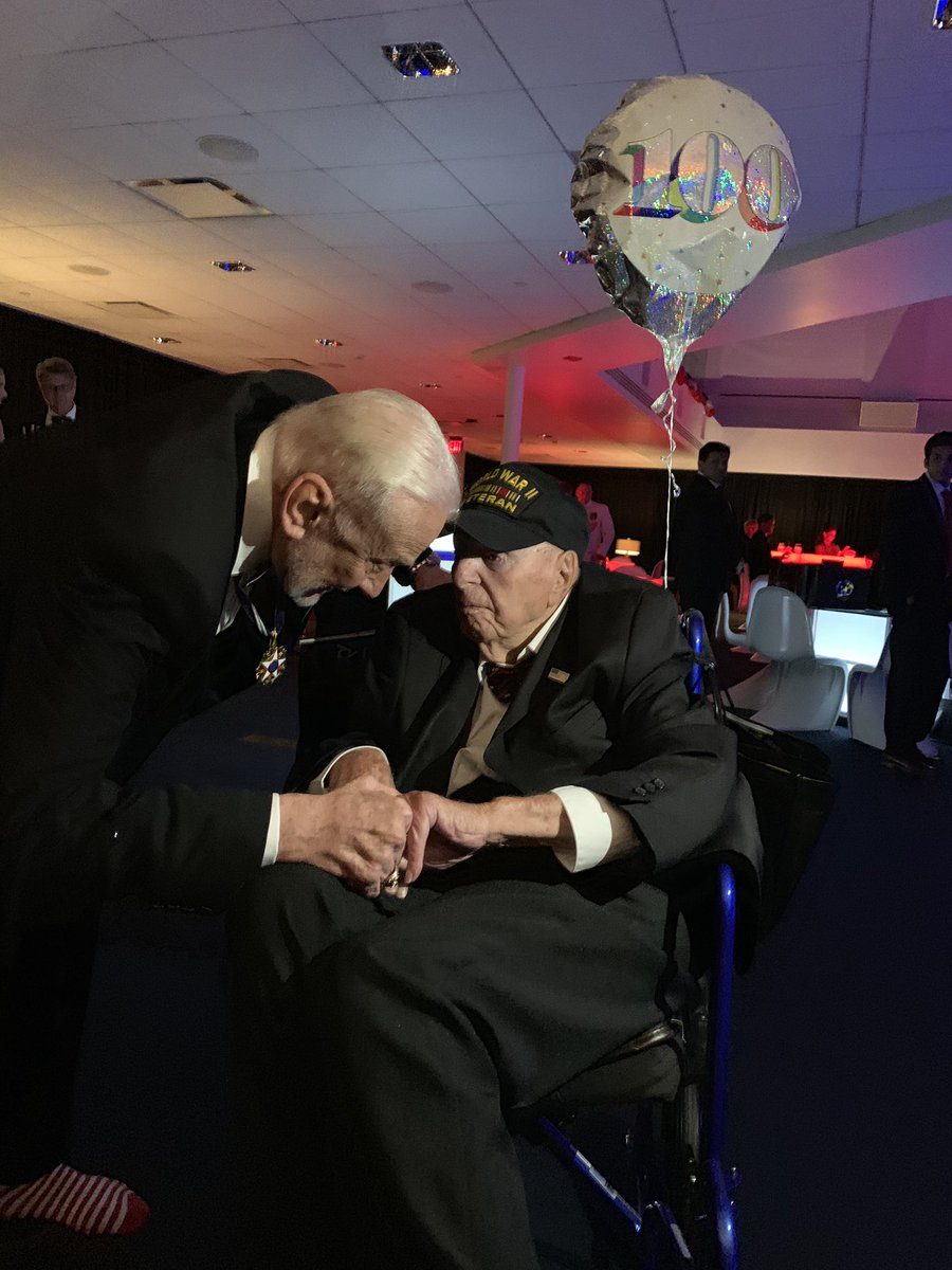 100 years old. World War II veteran. Are you kidding me!? I am honored! #roadtoapollo50th  #ApolloXI <br>http://pic.twitter.com/yKKY21KG0g