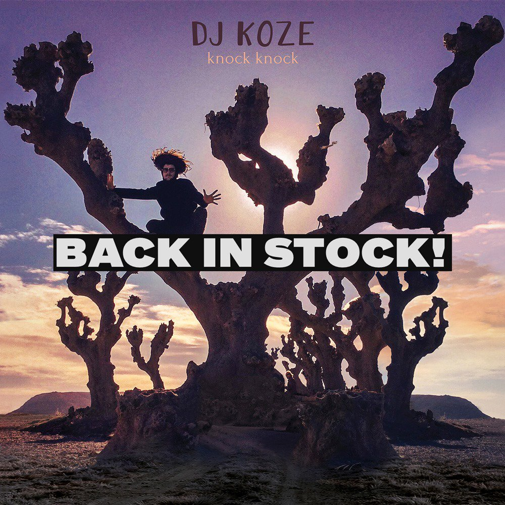 """BACK IN STOCK: A FEW LIMITED DJ KOZE ´knock knock BOXES - The strictly limited box set containing: 2x12"""" album vinyl (including 7""""), 1x12"""" instrumental album, 10"""" (3 exclusive tracks), jewel case CD, album art poster @ pamparecords.com"""