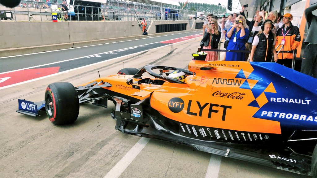 Heading out for his first home Grand Prix. 👊 Go get 'em, @LandoNorris!   #BritishGP 🇬🇧