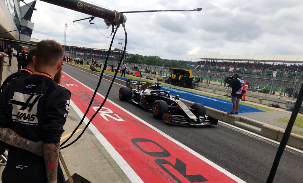 A couple of laps to the grid then we'll line up!  #HaasF1 #BritishGP