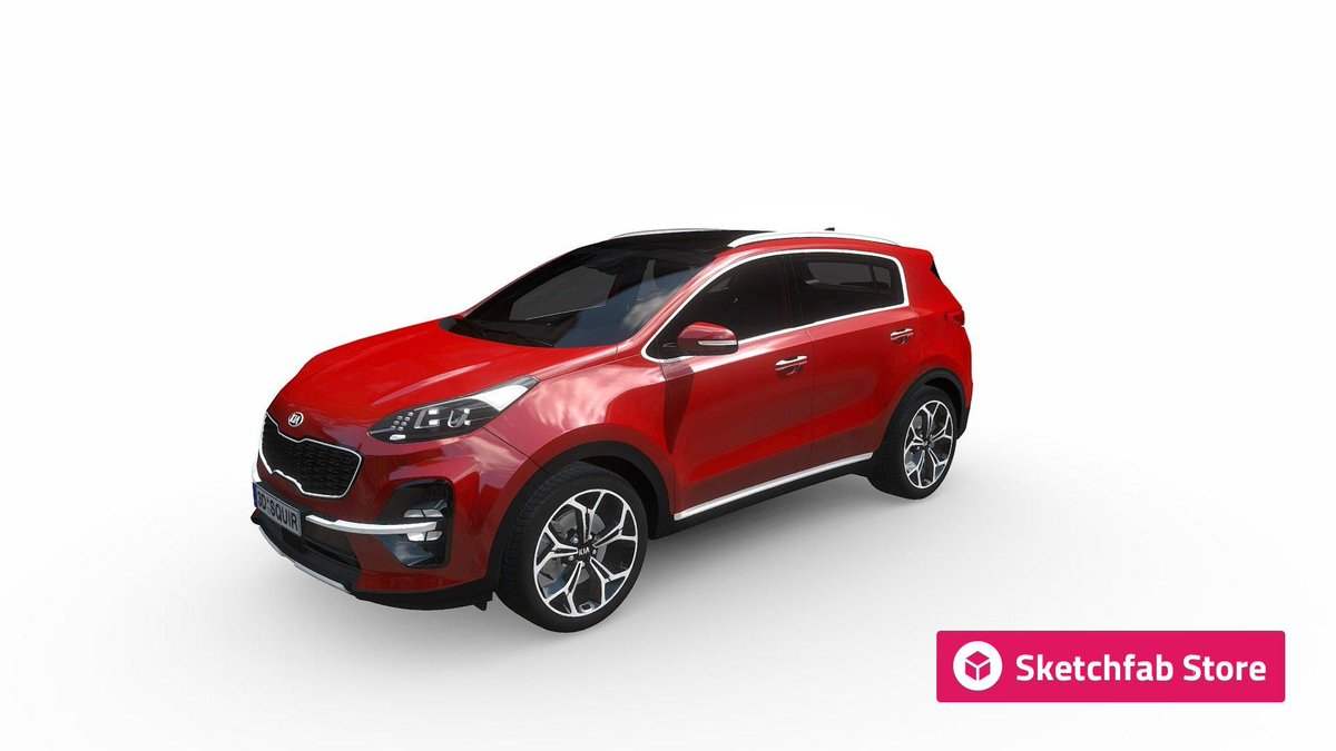 Store staff pick: Kia Sportage Interior 2019 by SQUIR3D. Buy it now for your #3D, #AR, or #VR projects: bit.ly/2XZ9p0N