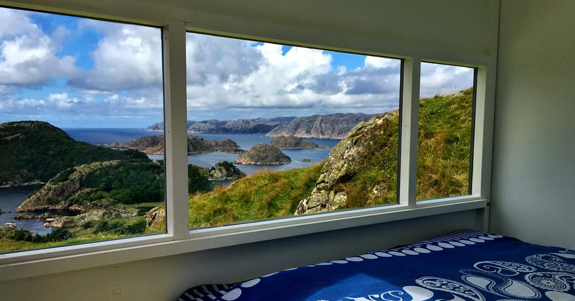A room with a view 😍 Små Hytter in Hidra, southern #Norway #travel #stay #cabins @visitsorlandet @SouthernNorway