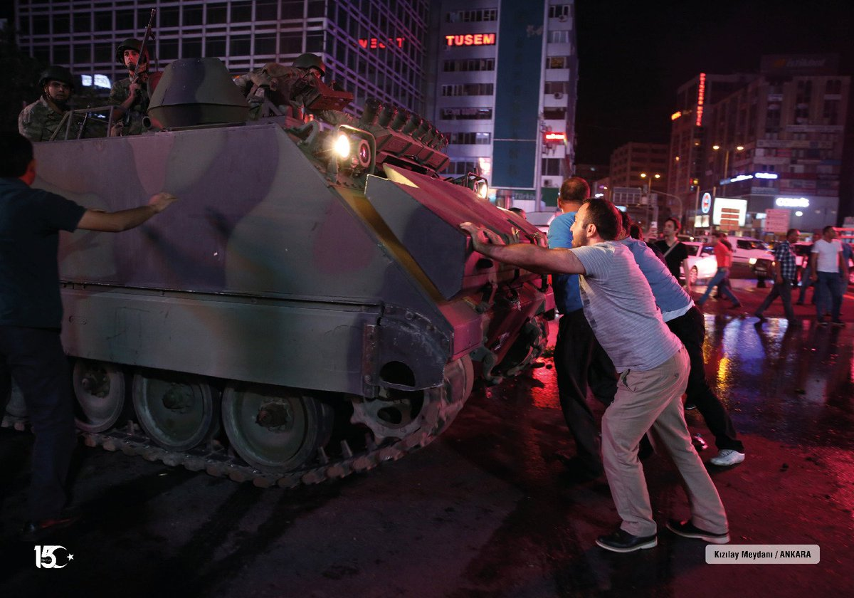 The #Gulen's coup attempt was not fabricated. It was so real for those who resisted the #coup with their bare hands in the night of the jule 15th, 2016.  #15TemmuzGecesi #15Temmuz