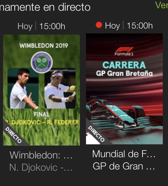 Buen detalle lo de poner a la misma hora la final masculina de #Wimbledon y la carrera de F1 en #Silverstone 🤔🤔🤔