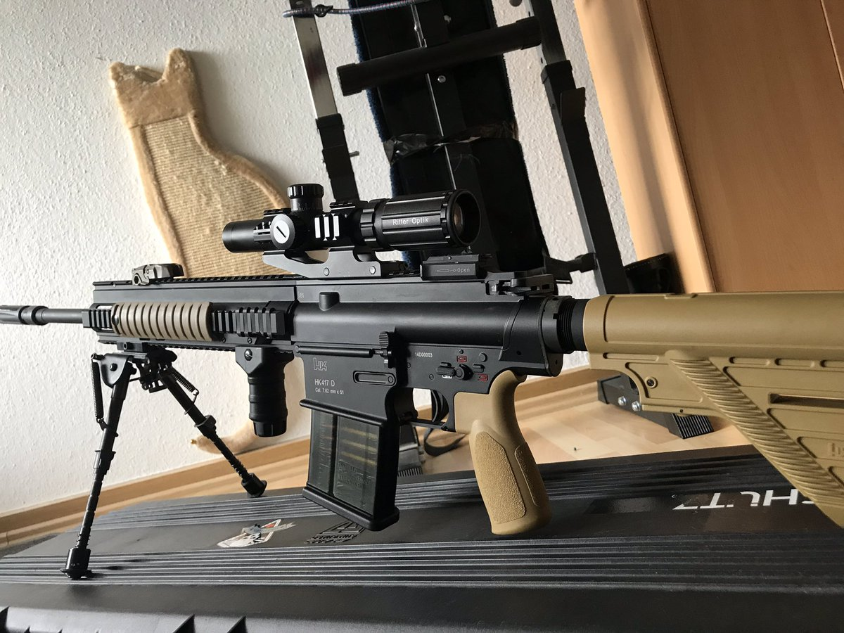 Some new pictures of my modified @HecklerAndKoch 417d #DMR ! I Love it so much #Airsoft @VegaForceCom #BB #6mm #Actionsportgames #Gasblowback #GBB