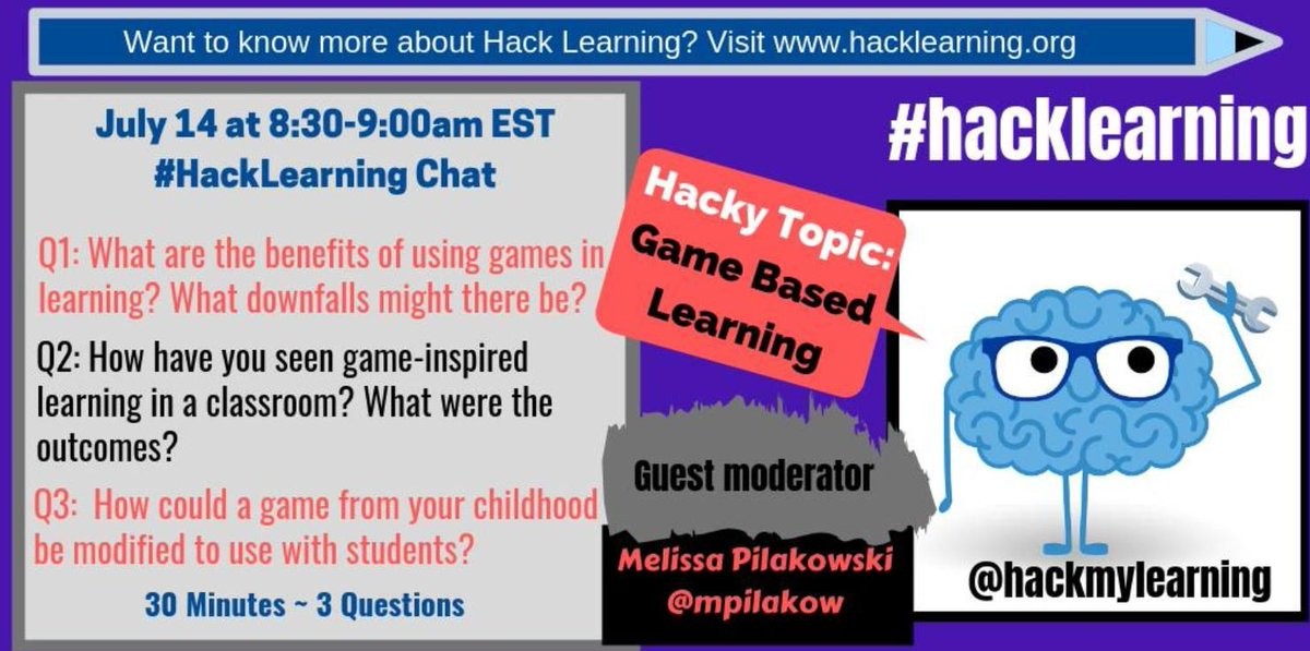 Let's #hacklearning. Join the live chat this #SundayMorning at 8:30 AM ET.