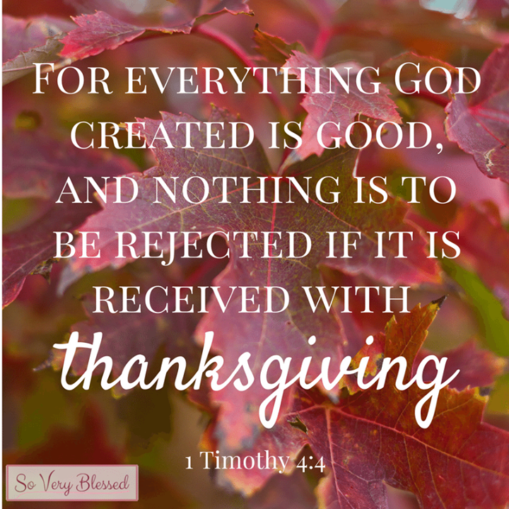 | Be thankful for everything that God has created is good. | #Bible #Jesus #Christian #bethankful #devotion<br>http://pic.twitter.com/FRc1Djaicv