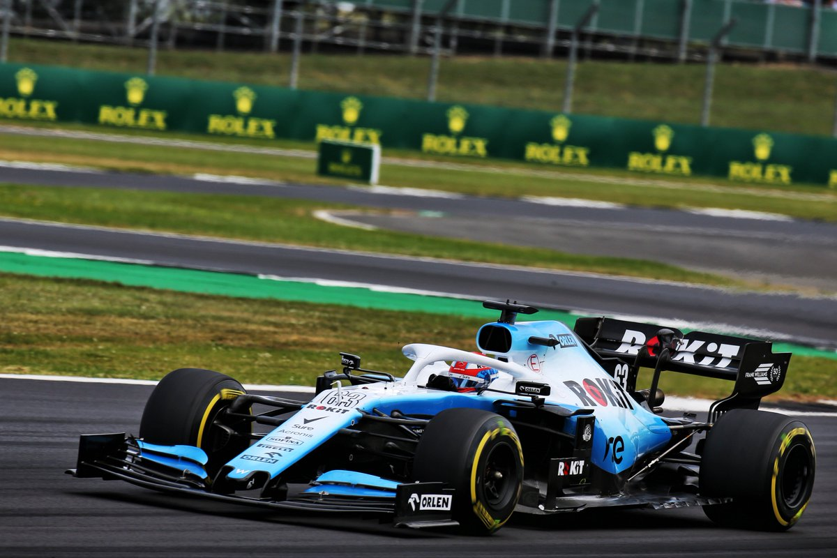 """George Russell """"Seeing all the fans supporting us Brits was amazing.""""   Read our report from the #BritishGP right here 👉  https://www.williamsf1.com/racing/news/2019/07/british-grand-prix…"""