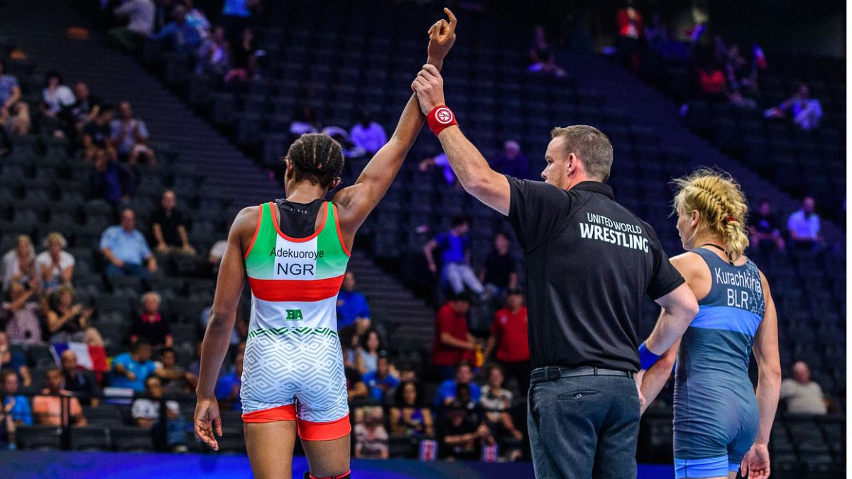 Odunayo Adekuoroye, Former World number ONE, World Wrestling Silver medallist, two times Commonwealth Games Champion and 5x Africa Champion won gold at the World series ranking in Istanbul, Turkey   Retweet to show her some love. She deserves some recognition @Nigeria  #WorldBest<br>http://pic.twitter.com/LdWtzl3Veg
