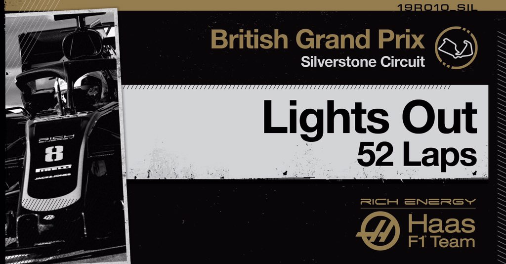 Let's go racing at Silverstone! 🇬🇧  #HaasF1 #BritishGP