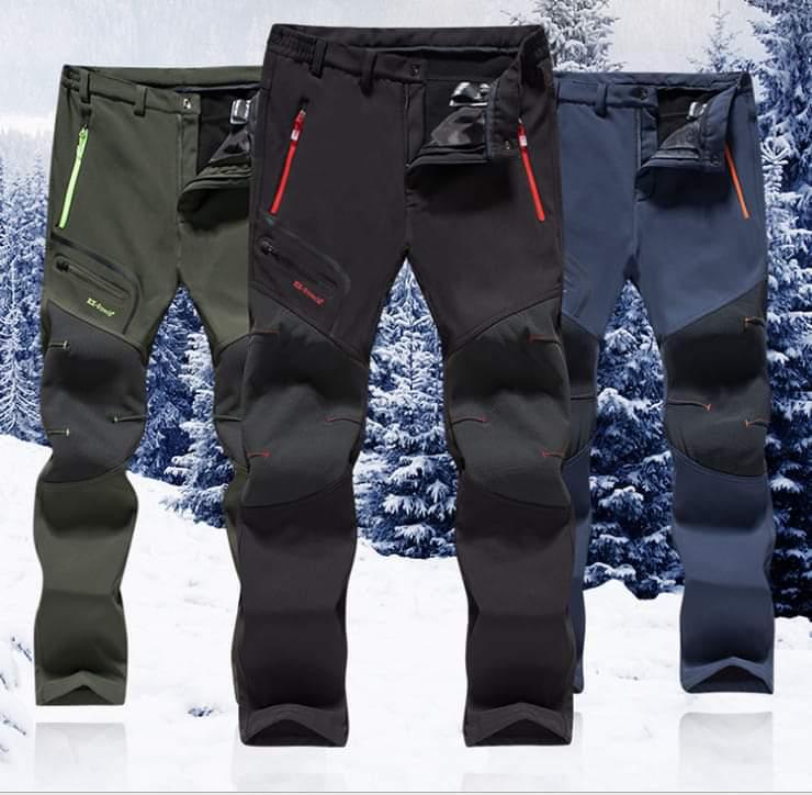 MirFreyr Mens Outdoor Waterproof Hiking Pants Camping Climbing Fishing Trekking Softshell Fleece Lined Pants /…