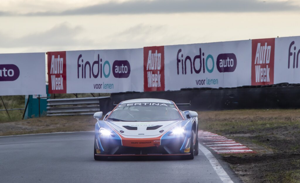 P3 and a return to the podium for the #14 @EquipeVerschuur 570S GT4 of @DanielMcKay91 and @BenLessennes in the second @gt4series race of the weekend at Zandvoort #GT4Europe