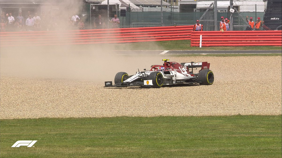 LAP 20/52: ⚠️ SAFETY CAR ⚠️  @Anto_Giovinazzi into the gravel trap   #BritishGP 🇬🇧 #F1