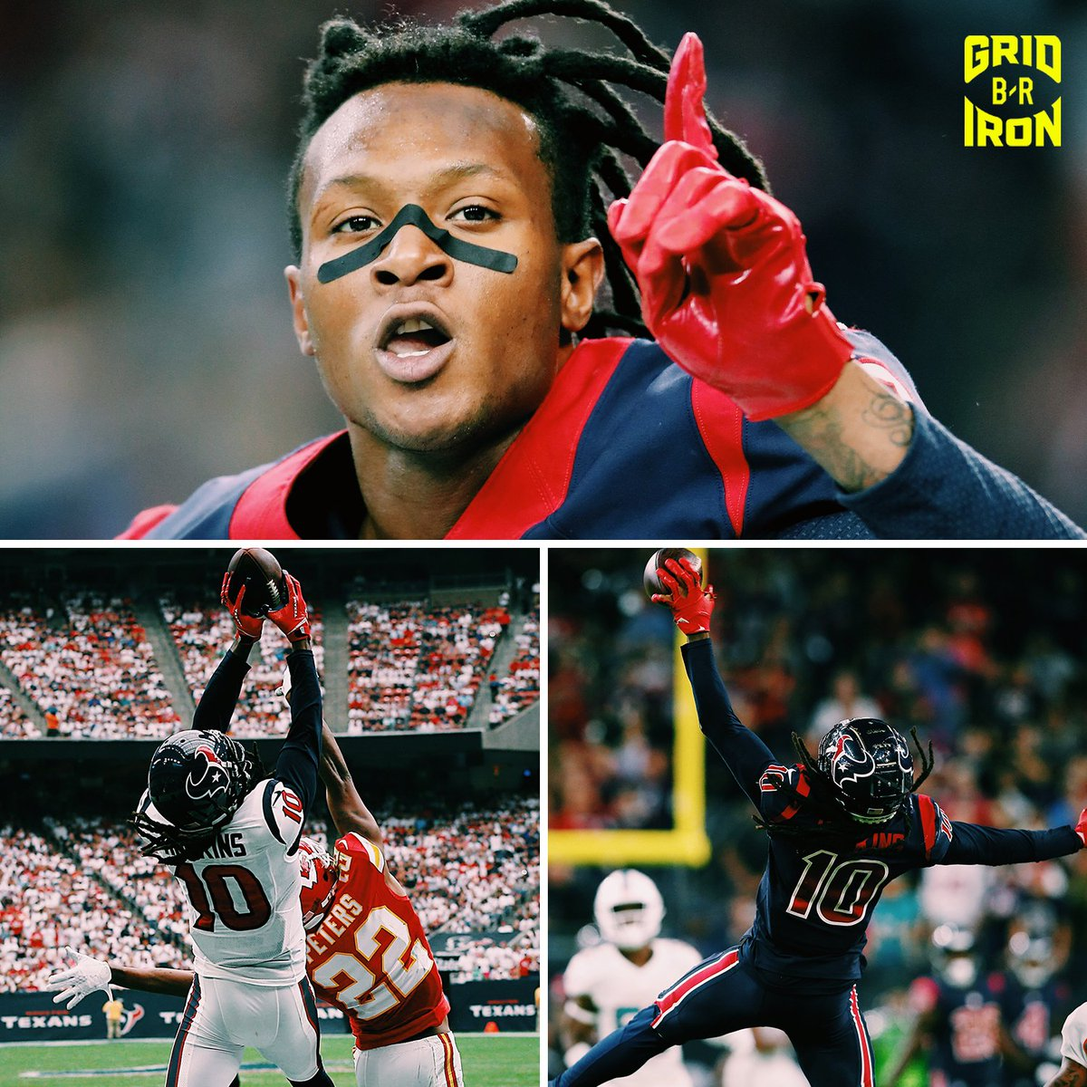 .@DeAndreHopkins is the No. 1 offensive player on #Madden20 🎮  Best in the game on: ➖ Overall (one of four 99s) ➖ Catching (99) ➖ Jumping (99) ➖ Spectacular Catch (99) ➖ Catch In Traffic (99) ➖ Release (99)  (via @EAMaddenNFL) https://t.co/8V0XRAQ0OQ
