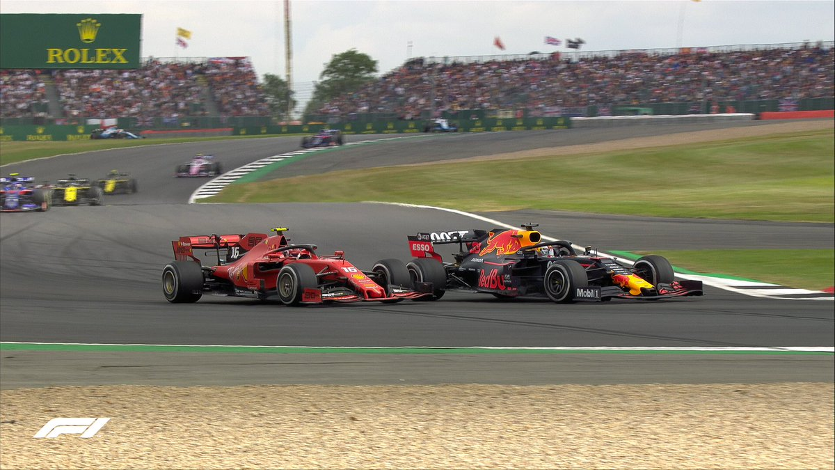 LAP 25/52: They're at it again!   #BritishGP 🇬🇧 #F1