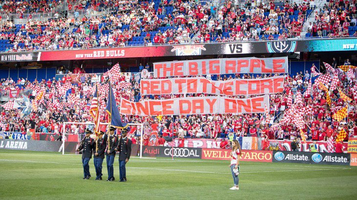 Also from 2016, #RBNY  fans representing their colors.<br>http://pic.twitter.com/DW4Pk8QP8j