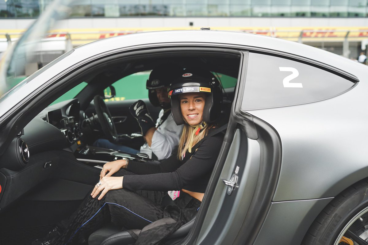 What a day 🏎😬  Thank you @pirellisport @Pirelli for taking me round an @F1 track, full throttle in this Mercedes 🔥😍 #F1PIRELLIHOTLAPS