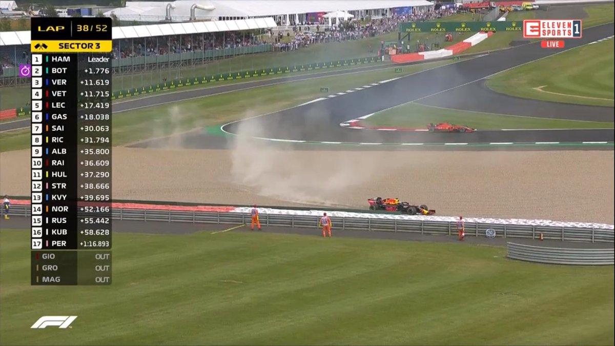 OMG!!!!!!! #BritishGP #Silverstone #ForzaFerrari #Seb5 #Charles16 #F1 #Formula1 #ElevenF1