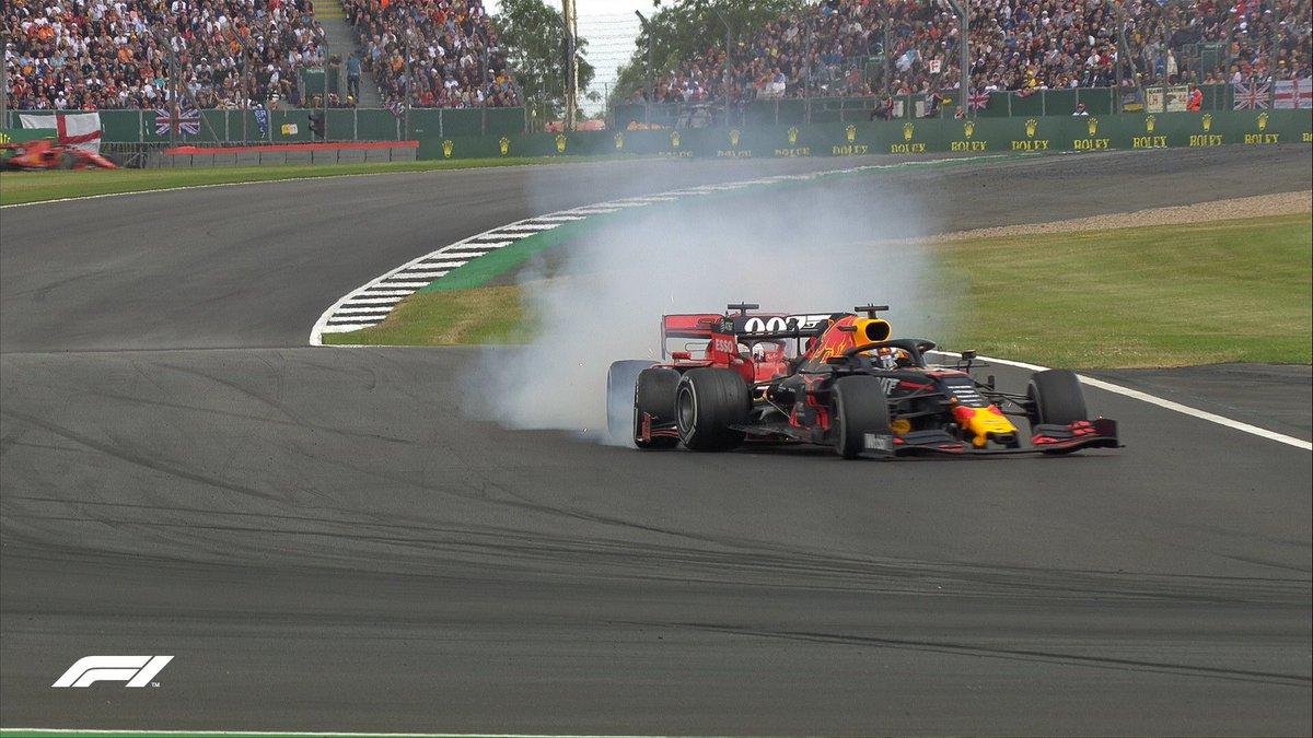 LAP 37/52: 💥😵  Vettel and Verstappen collide!   #BritishGP 🇬🇧 #F1