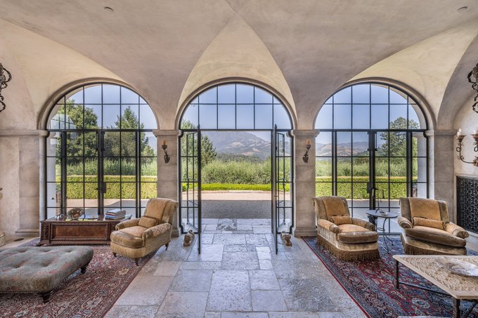 According to the Journal, the property has a swimming pool, a skeet shooting range, a bocce ball terrace, a guest house, and a caretaker's cottage.