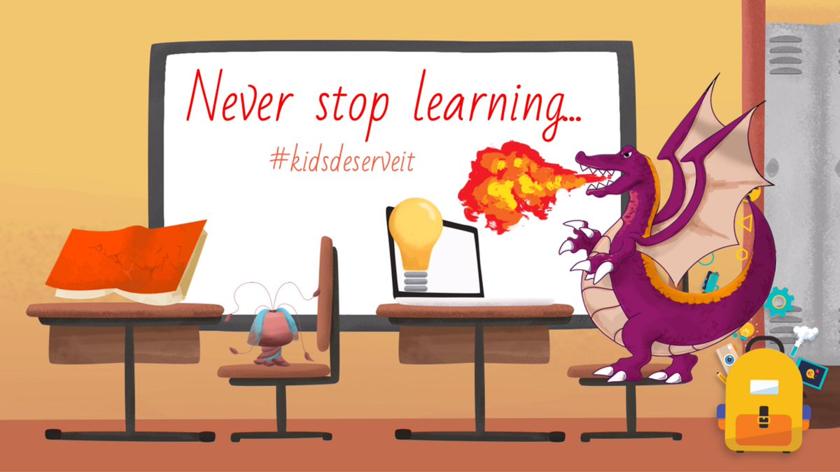 Never stop learning... #KidsDeserveIt