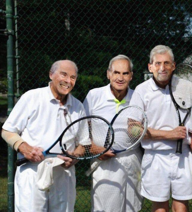 The year is 2059. The top three tennis players in the world are Novak Djokovic, Roger Federer and Rafael Nadal. #WimbledonFinal