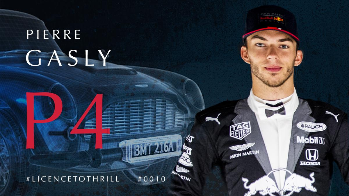 It's P4 here @SilverstoneUK for @PierreGASLY in the #BritishGP. A great drive by the young Bull.  #F1007 #LICENCETOTHRILL