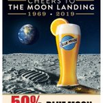 "Mark your calendars! This Saturday (7/20) we are saying ""Cheers"" to The Moon Landing with 50% OFF Blue Moon Pints! All Day 7/20 ONLY at ALL DJ's Dugout locations! 🍻"
