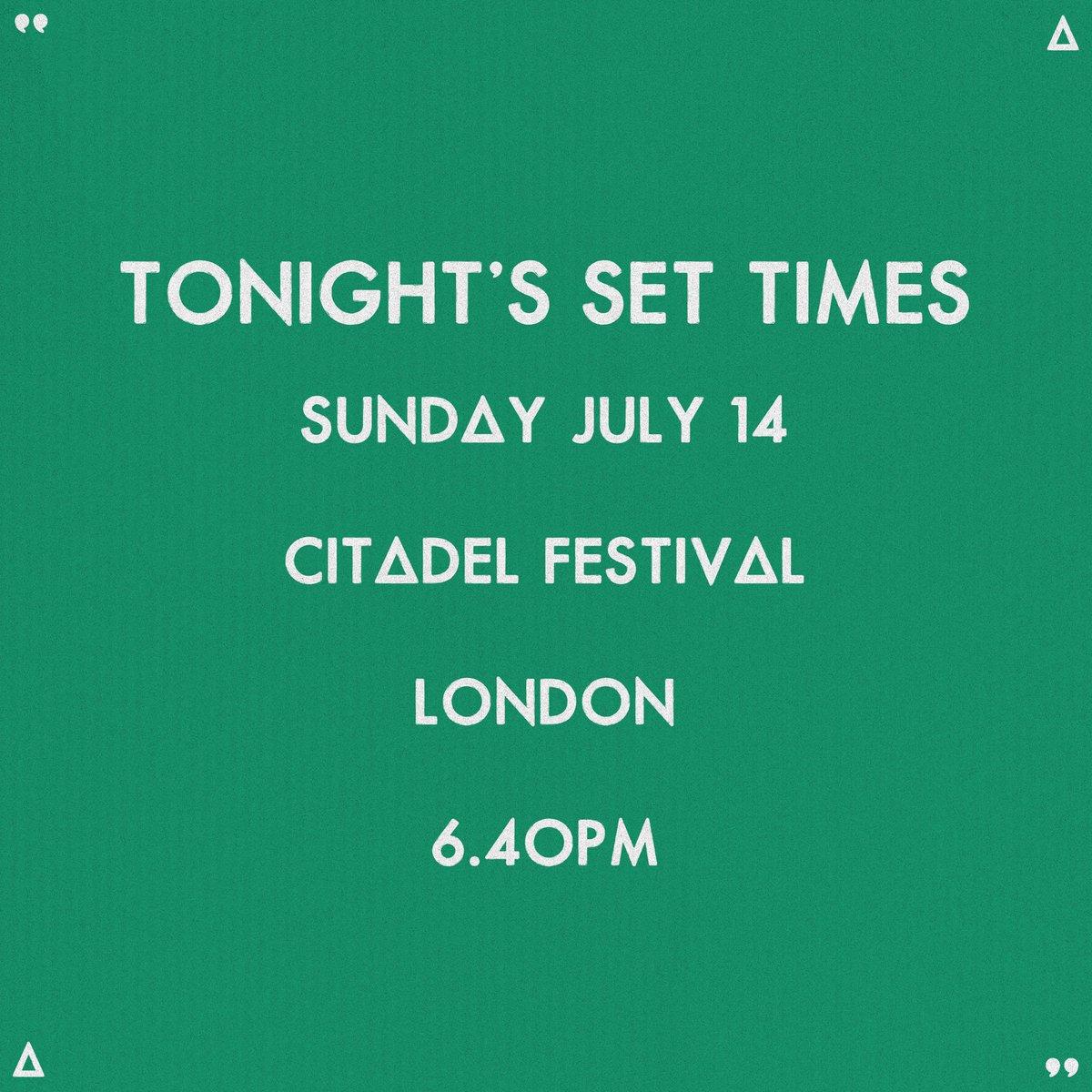 TONIGHT // @CitadelFestival