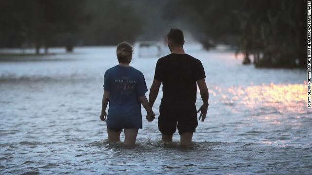 """Louisiana residents are being warned that """"the worst is yet to come"""" as Tropical Storm Barry slowly creeps through the state, dumping heavy rain on already flooded areas https://cnn.it/2XK6U30"""