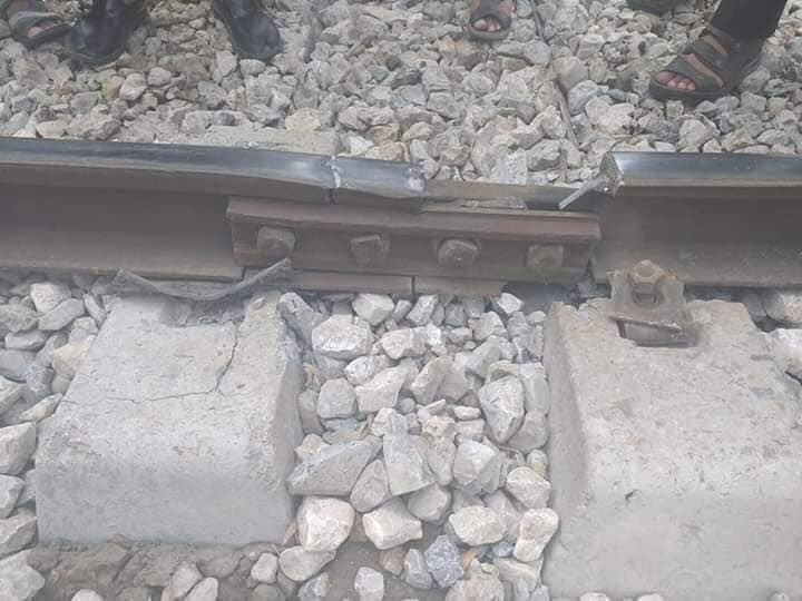 Rawalpindi Multan train track cut to cause an accident