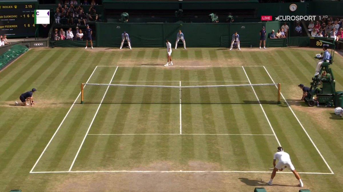 Wimbledon-finale: Derde set uit tiebrake voor Djokovic
