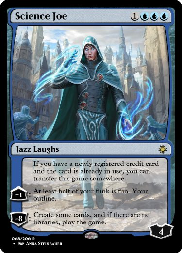 After the events of #MTGWAR, Jace, Wielder of Mysteries (by @depingo) assumed a new identity and finally pursued his newest passion: musical comedy. #GoogleTranslatesMTG @RosewattaStone   Original:  https:// scryfall.com/card/war/54/ja ce-wielder-of-mysteries  … <br>http://pic.twitter.com/J9KAYbdKdT