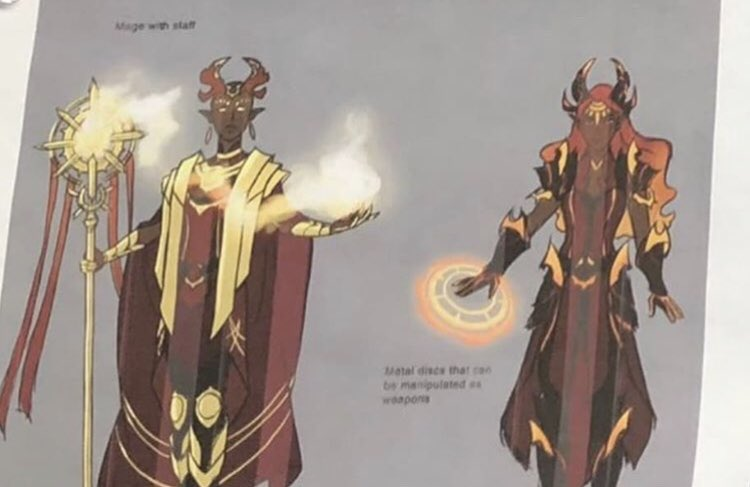 """Metal discs that can be manipulated as weapons."" THATS SO COOL I HOPE THEY KEPT THAT. #TheDragonPrince <br>http://pic.twitter.com/RL9T0Jud95"