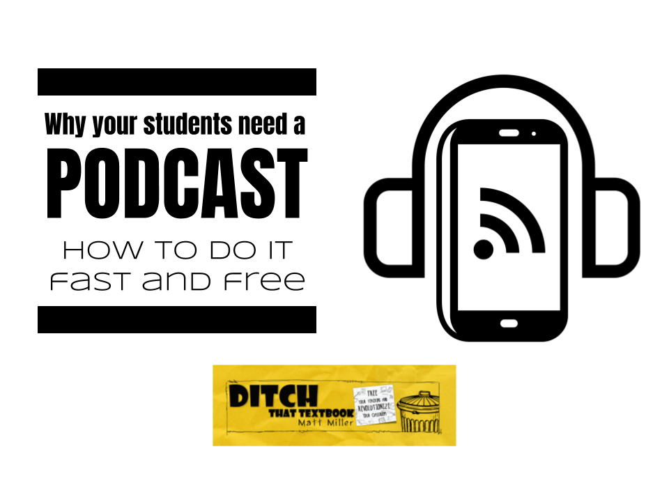 Why your students need a podcast: How to do it fast and free ditchthattextbook.com/2018/02/28/why… #ditchbook #edtech
